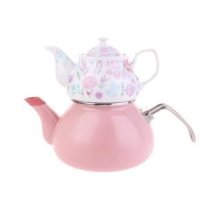 Karaca Levin Emaye Porselen Demlikli Çaydanlık Takımı
