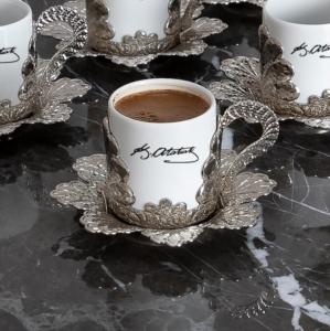 Sena Damla Baskılı Kahve Fincanı (6'lı Kutu) 337-K-İMZA 11