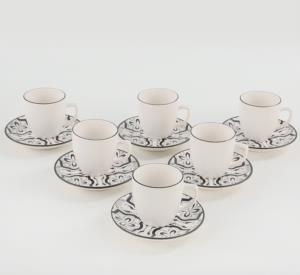 Keramika Pleasure Kahve Takımı 12 Parça 6 Kişilik-19304