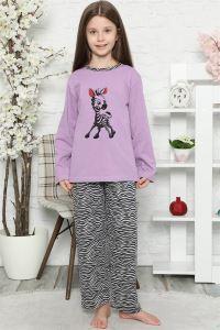 Akbeniz Çocuk Pamuk Uzun Kollu Pijama Takımı 4548