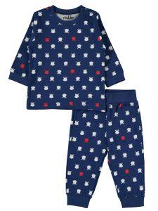 Kujju Erkek Bebek Pijama Takımı 6-18 Ay Lacivert
