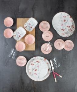 Acar 25 Parça Sakura Seramik Kahvaltı Seti
