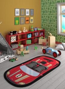 Confetti Home Speed Racer Kırmızı Bukle Çocuk Halısı 100x200