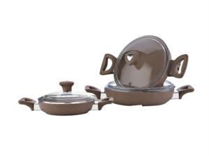 Safinox Granit Sahan Seti - Kahve T4301070206