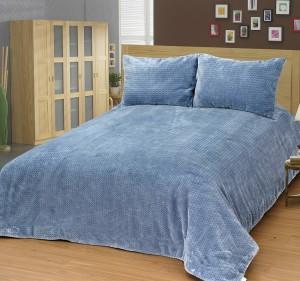Skylife Bürümcüklü Mavi Yatak Örtüsü Takımı SKY16