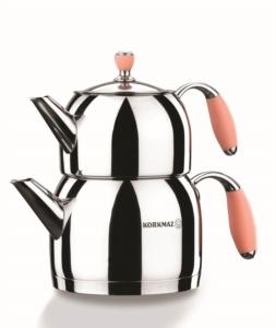 Korkmaz Flora Pembe Midi Çaydanlık Takımı A118-01