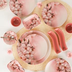 Keramika Yaz Gülü Kahvaltı Takımı 19 Parça 4 Kişilik - 17171
