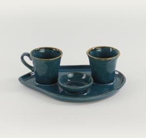Keramika Safir Moka İkram Seti  8 Parça 2 Kişilik