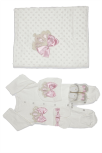 Mecit Battaniyeli Pembe Bebek Set