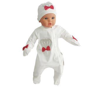 Lüx Bebek Tulum Seti Kırmızı