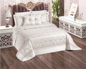 Belenay Çift Kişilik Yatak Örtüsü - Saraylım Krem