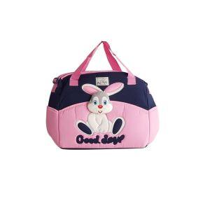 Tavşan Kabartmalı Bebek Çantası Pembe
