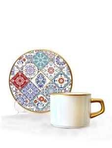Asaf Çay Fincan Seti 6 lı Tile Art