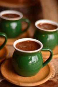 Bambum Selam 6 Kişilik Kahve Fincan Takımı Yakut