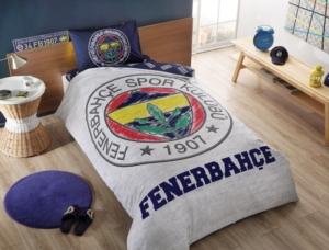 Taç 3607 Lisanslı Brf Tek Kişilik Nevresim Takımı Fenerbahçe Grey