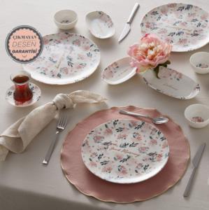 Karaca Lovely Pink 26 Parça 6 Kişilik Kahvaltı Takımı