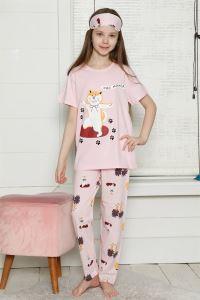 Akbeniz Çocuk Pamuk Kısa Kollu Pijama Takımı 4564