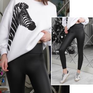 Moda Verona Siyah Deri Tayt