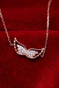 Kanat Model Zirkon Taşlı Rose Gümüş Bileklik