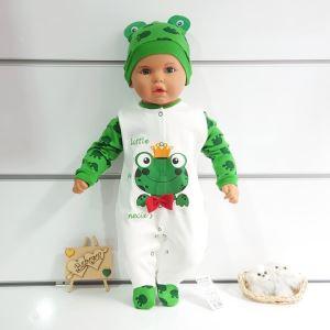 Kurbağa Bereli Bebek Tulumu