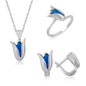 Gümüş Mavi Lale Bayan Set