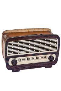 Radyo Görünümlü Ahşap  Kumbara