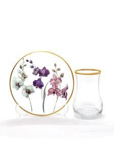 Damla Çay Seti 6 lı Orkide