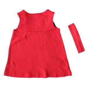 Kırmızı Laci Bandanalı Askılı Elbise