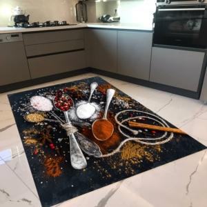 Milano Halı Kaymaz Tabanlı Mutfak Halısı Yıkanabilir Dot Taban HM-583