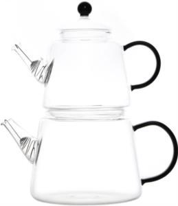 Tohana Cam Çaydanlık Seti Renkli Saplı THN75178