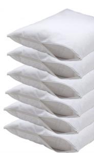 Fermuarlı 6 Adet Yastık Koruyucu Kılıf 50x70cm -Beyaz