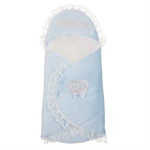Letizia Prens Yazılı Taşlı Tay Tüyü  Mavi Kundak