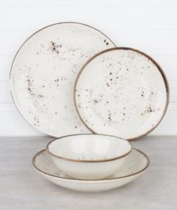 Acar 24 Parça Antik Porselen Yemek Takımı 016925/1-KREM