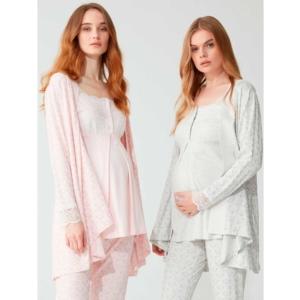 Feyza 3779 Bayan Lohusa Pijama Takımı Pembe