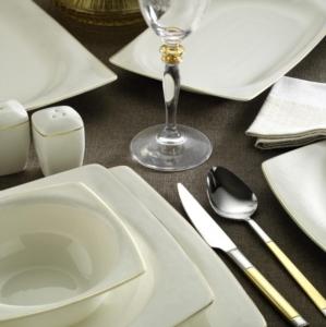 Kütahya Porselen Bone Mare 53 Parça 9850 Desenli Yemek Takımı