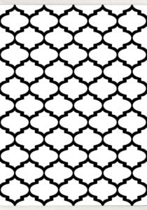 Halı m&y Life İnci Halı Geometrik Serisi D-293 Beyaz