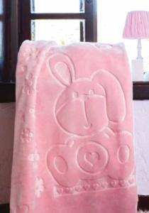 Özdilek Embos Pembe 100 x 120 cm Bebek Battaniyesi