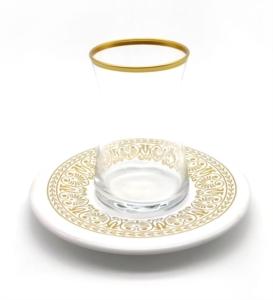 Özcam Kristal 12 Parça Tabak Desenli Çay Takımı- D-1615