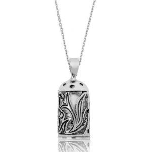 Gümüş Cevşen Dualı Bayan Kolye