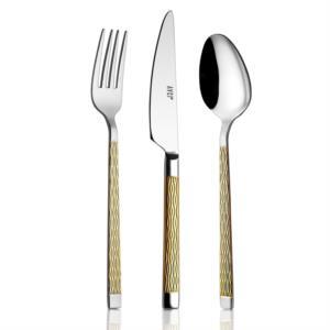 Avcı Pera Gold Renk 24 Parça Çatal Kaşık Bıçak Takımı