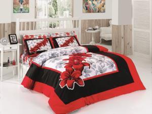 Belenay Çift Kişilik Uyku Seti - Lilyum Kırmızı
