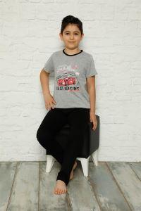 Akbeniz Çocuk Pamuk Kısa Kollu Pijama Takımı 4570