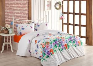 Evlen Home 4 Parça Cennet Mavi Çift Kişilik Nevresim Takımı NEV-00019