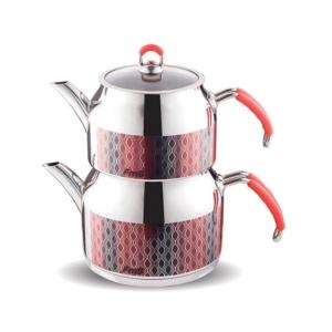 Fms Prestij Serisi Cam Kapaklı  Aile Boy Çaydanlık- 4050-D