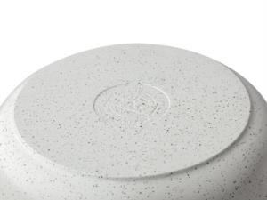 Taç Gravita Döküm Derin Tencere 24 cm Beyaz 3426