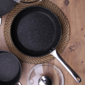 Falez Black Line 24cm Granit Tek Tava BLN 3013