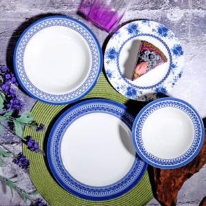 Kosova 24 Parça Porselen Yemek Takımı POR-267 BLUE HOLLY