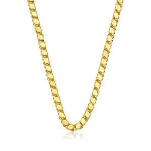 Gümüş Gold Pullu Arpa Zincir