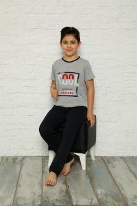 Akbeniz Çocuk Pamuk Kısa Kollu Pijama Takımı 4572