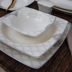 Güral Porselen 53 Parça Bone Kare Caroline Yemek Takımı 8205993